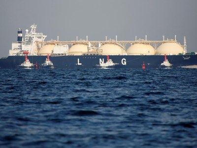 LNG tankers heading to Britain, Belgium and the Netherlands