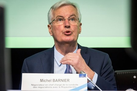 Barnier says to return to London for Brexit talks