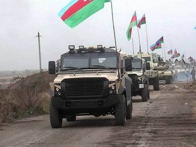 Azerbaijan army enters last district handed over by Armenia