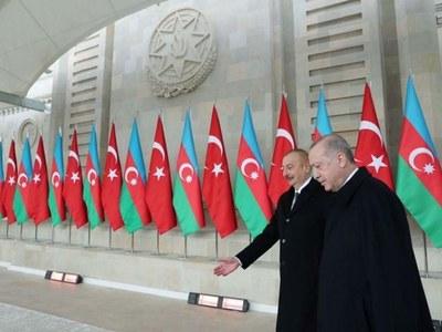Turkey's Erdogan, at Nagorno-Karabakh parade, says Armenia needs new leaders