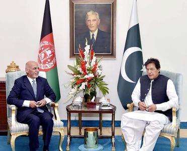PM Khan, Afghan President discuss peace process as Taliban delegation visits Islamabad