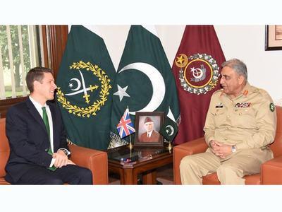 British High Commissioner calls on COAS bajwa