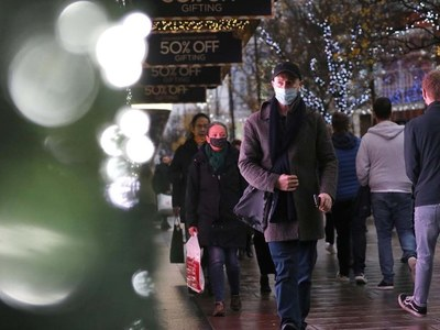 UK retail sales slide as November lockdown shut non-essential stores
