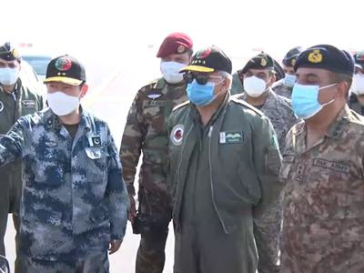CJCSC witnesses Pakistan-China Joint Air exercise