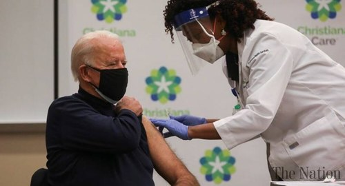 Biden receives COVID-19 vaccine at Delaware hospital