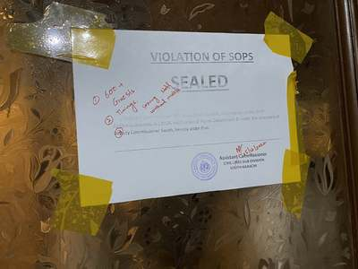 Wedding hall, hotel sealed in Karachi over coronavirus SOPs violations
