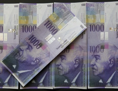 Swiss franc falls against euro on Brexit relief, dollar dips on US stimulus