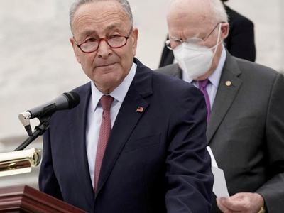 Democratic Senator Schumer blasts checks legislation he says McConnell has introduced