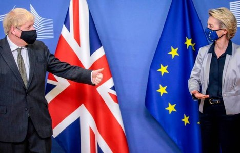 EU chiefs sign post-Brexit trade deal agreed with Britain