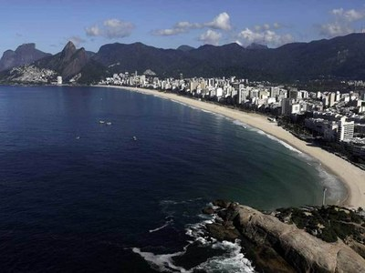 Brazil rings in 2021 with nearly empty Copacabana beach