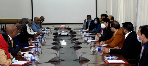 Delegation from Djibouti calls upon Moeed Yusuf, to discuss matters of mutual interest