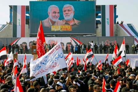 Thousands march in Baghdad on anniversary of Soleimani assassination, pushing for withdrawal of U.S troops