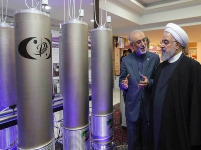 Iran says 20pc uranium enrichment process started
