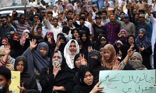 Machh massacre: Traffic chokes, business activity affected as protests continue in Karachi