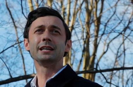 Democratic challenger Ossoff takes lead in Georgia Senate race - Edison