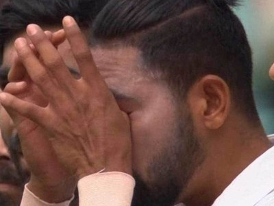Teary-eyed Siraj remembers late father during national anthem