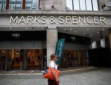 M&S clothing sales cut by British lockdown measures