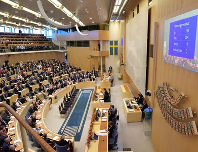 Swedish parliament grants government wider shutdown powers