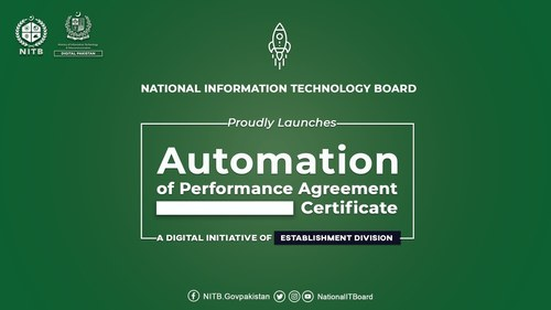 Shehzad Arbab inaugurates the Automation of Performance Agreement Portal