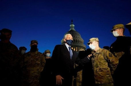 Pence vows to honor U.S. history, ensure safe inauguration of new president