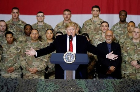 American troops in Afghanistan formally down to 2500