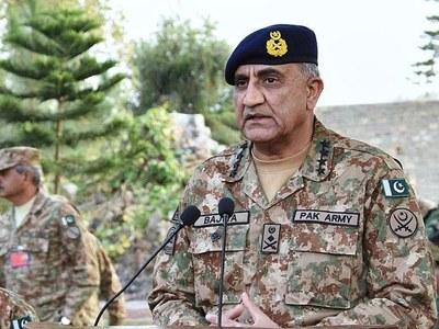 COAS General Bajwa visits Corps headquarters Peshawar