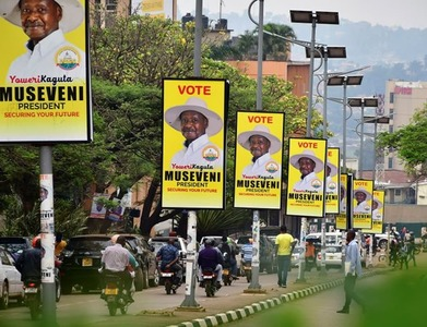 Uganda's Museveni declared winner of presidential poll-election commission