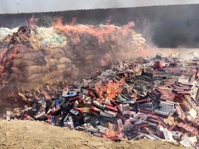 Customs destroy confiscated goods worth Rs300m