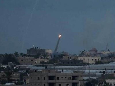 Israeli tanks strike Hamas positions after rocket attack: military