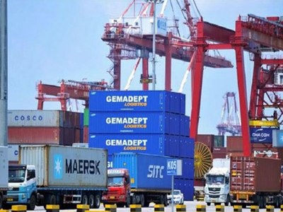 Japan's exports post first annual gain in two years in December