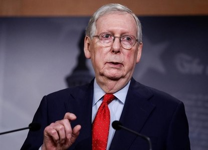 Republican McConnell proposes Trump get two weeks to prepare for Senate impeachment trial