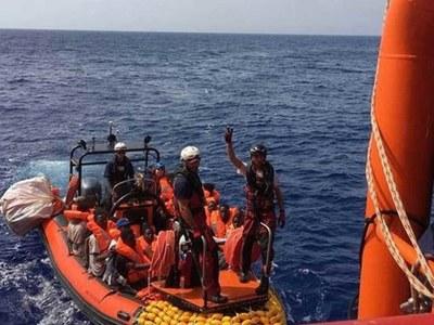 Ocean Viking rescuers pick up hundreds of migrants off Libya