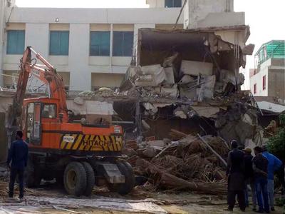 LDA demolishes 'illegal construction' of Khokhar Palace