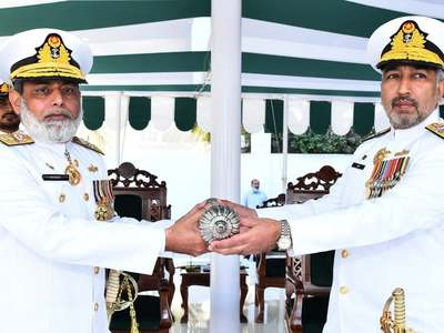 Rear Admiral Abid Hameed takes over Logistic Command of Pak-Navy