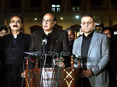 Raja Basharat flays PML-N for defending qabza mafia