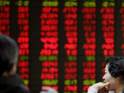 China shares lower
