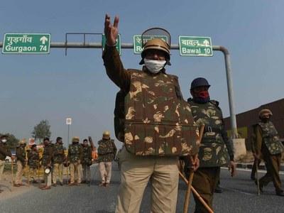 Heavy security, roads closed after Delhi farmer riots