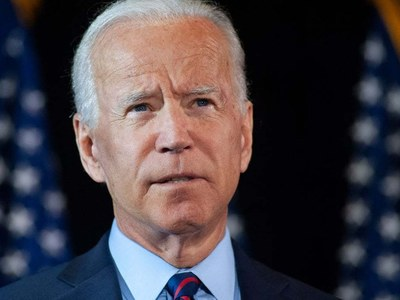 US B-52 overflies Mideast as Biden sets policy tone