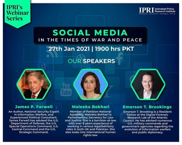 IPRI hosts a webinar on Social Media in the Times of War and Peace