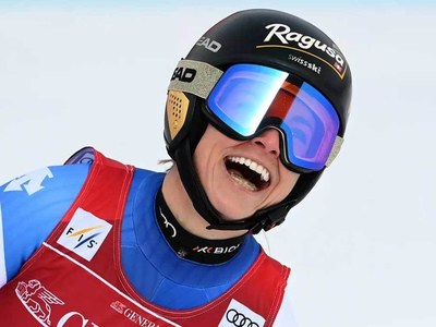 Gut-Behrami completes super-G hat-trick in Garmisch before worlds