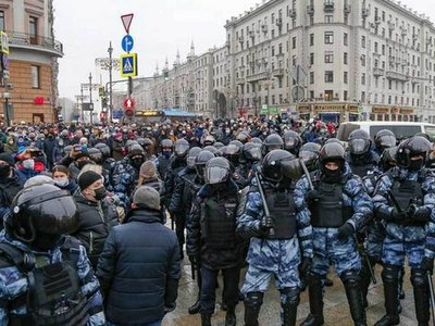 US condemns Russia's 'harsh' tactics against protesters