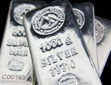 Silver drops from 8-year peak as stellar rally loses steam