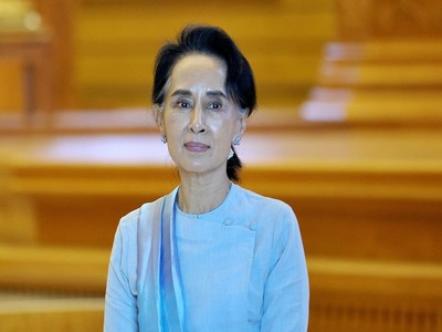 Ousted Myanmar party demands release of Aung San Suu Kyi