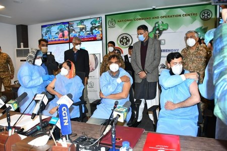 COVID-19 vaccination drive begins across Pakistan