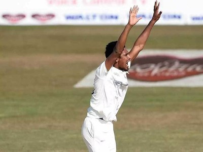 West Indies 75-2 in first innings after Bangladesh 430 all out