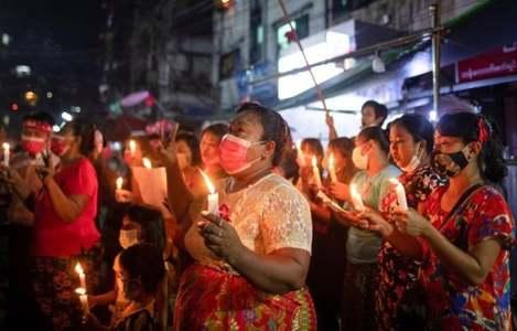 Myanmar generals shut down internet as thousands protest coup