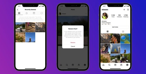 Instagram latest feature allows users retrieve deleted posts
