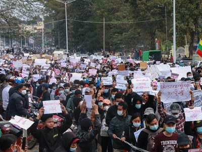 Myanmar issues crackdown warning as rallies heap pressure on coup leaders