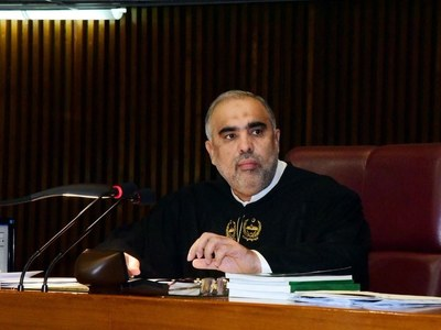 Asad Qaiser hands over 7-year agricultural plan to MNFS&R, cabinet committee