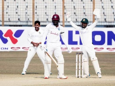 West Indies 223-5 at stumps in second Bangladesh Test
